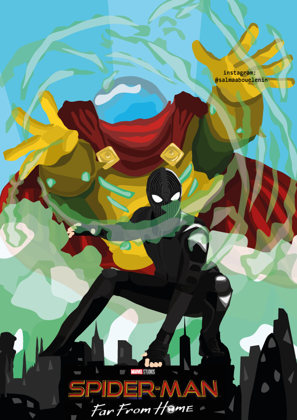 Artstation Spider Man Far From Home Movie Poster