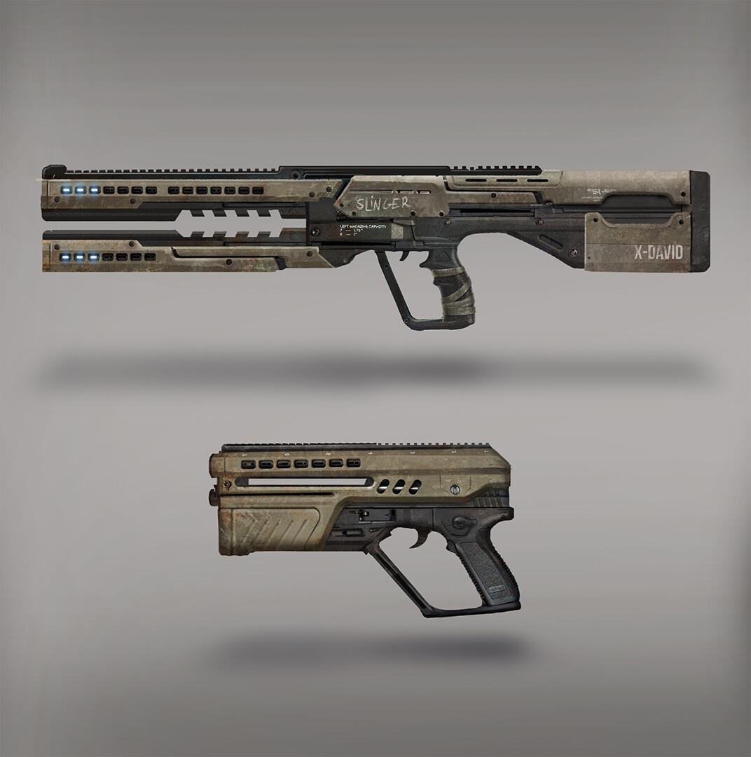 ArtStation - Pistol and Railgun Design, Augusto Toloza