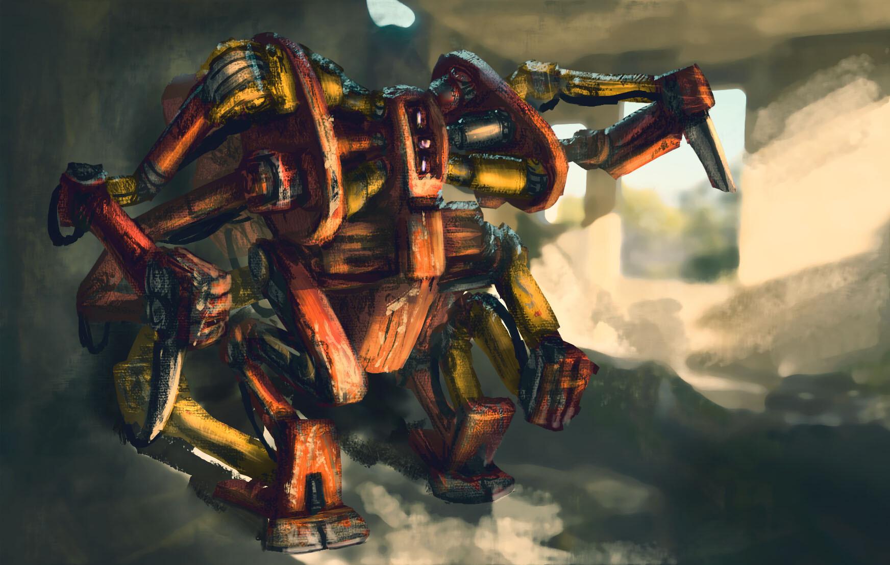 Paint Sketch: Junk Bot 04