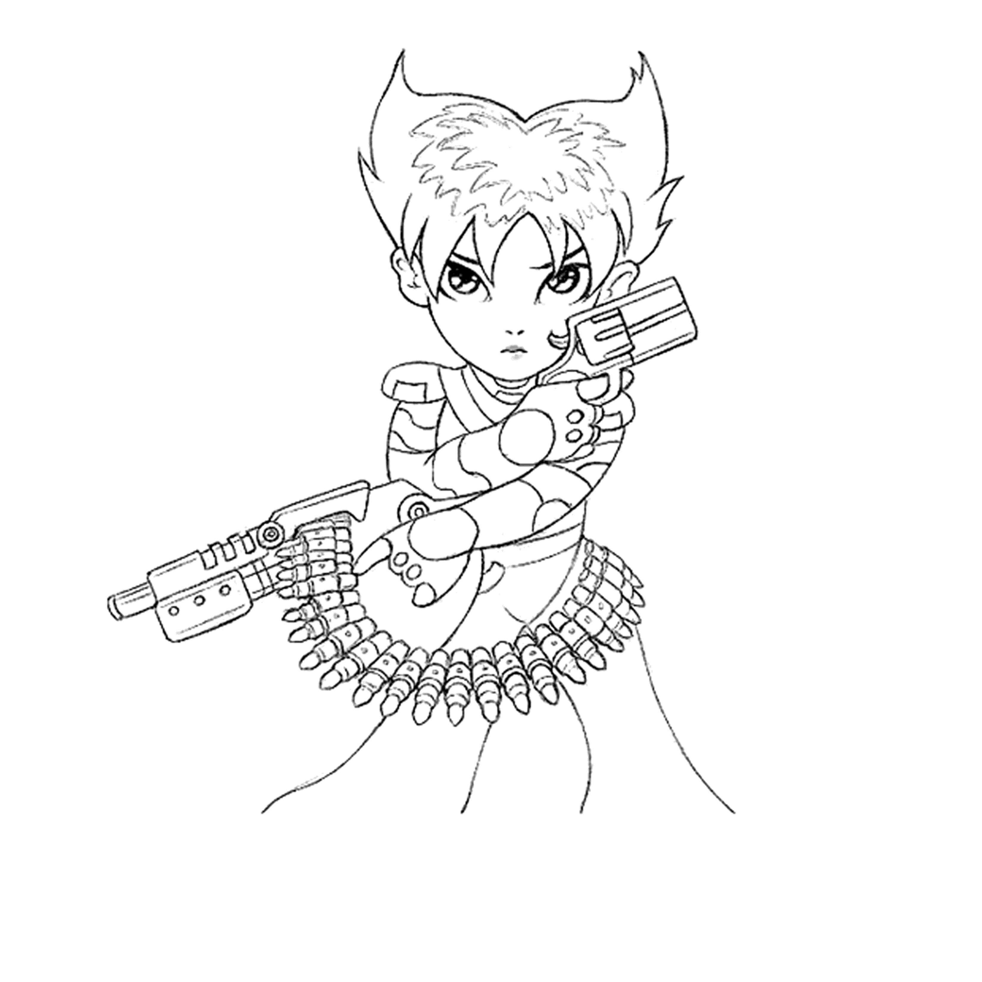 Konoko-Q - Line Art