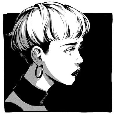 Gael chauvet 190610 portrait ink 01