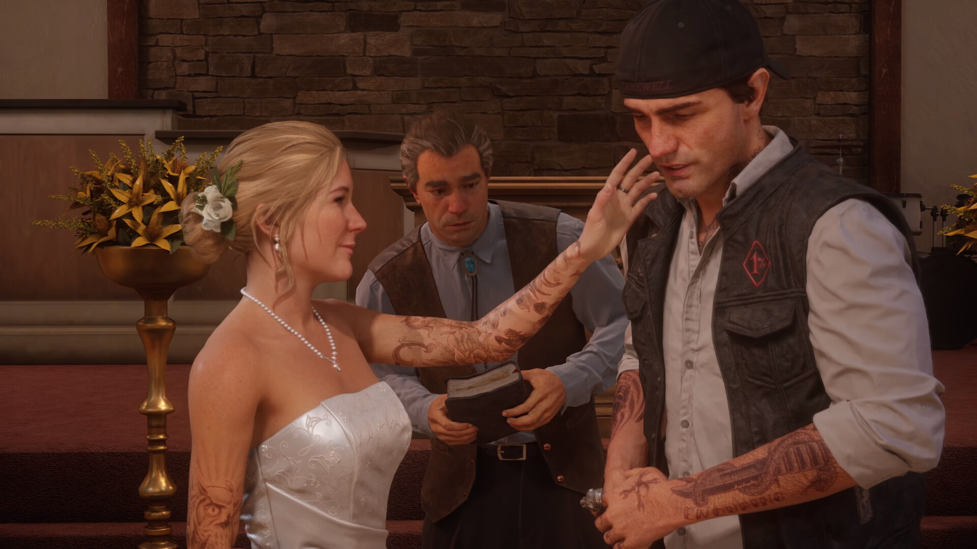 Dustin brown days gone sarah deacon s wedding ps4 1 1 screenshot
