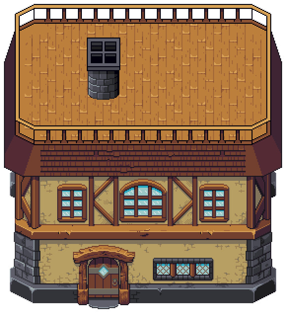 WIP 8 - Finalized colors and a chimney attempt