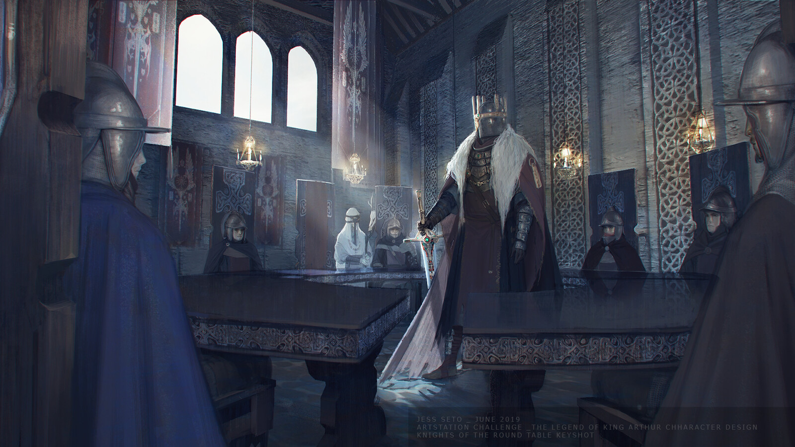 Artstation Challenge The Legend of King Arthur: Knights of the Round Table