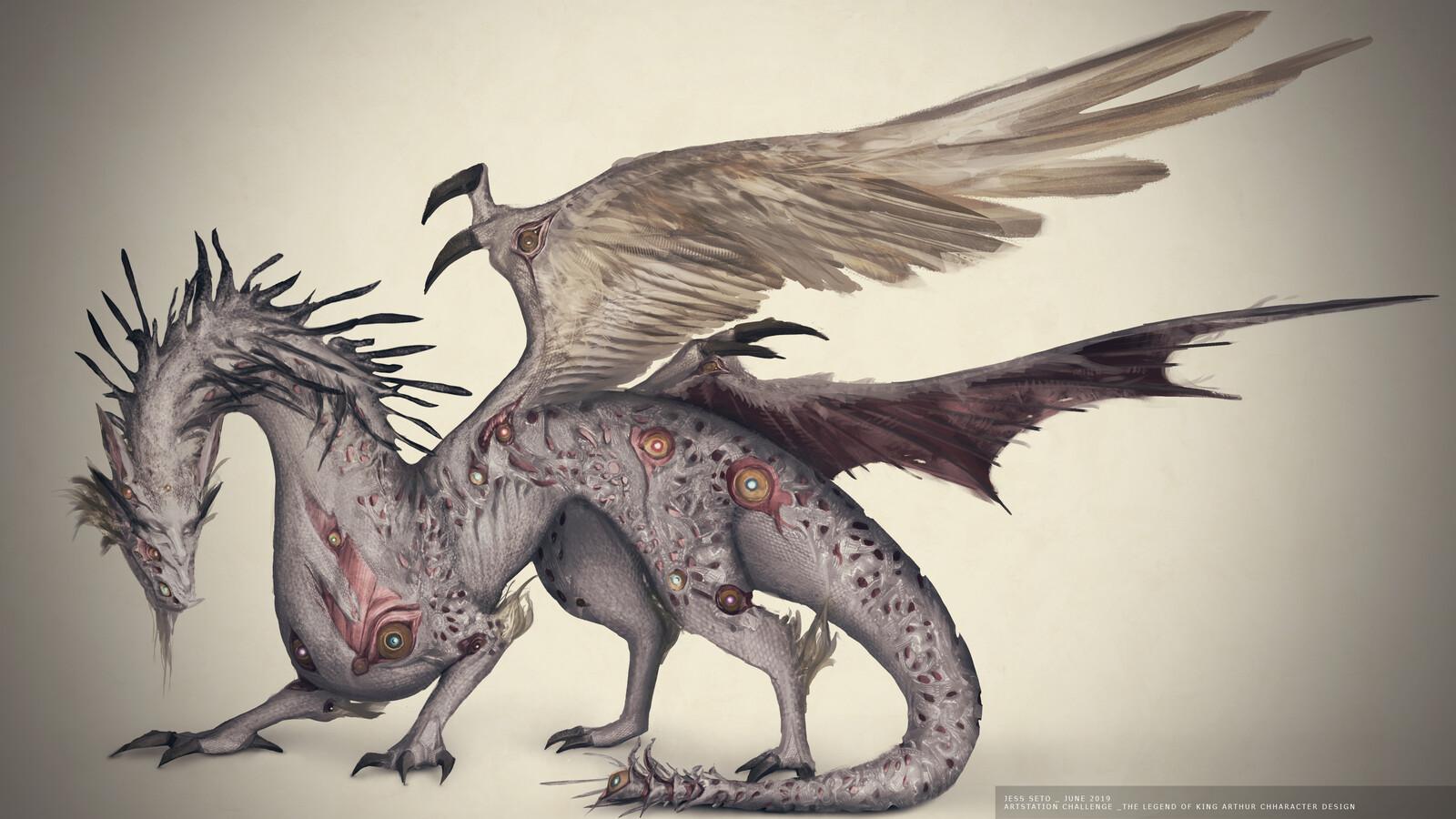 Artstation Challenge The Legend of King Arthur: Dragon