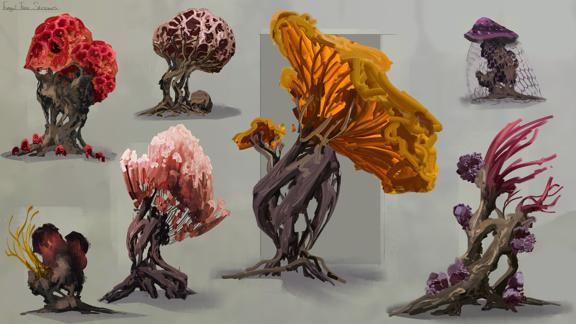Jack dowell fungal tree sketches