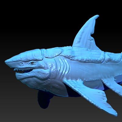 Travis lacey shark creature zbrush travis lacey sculpt concept art