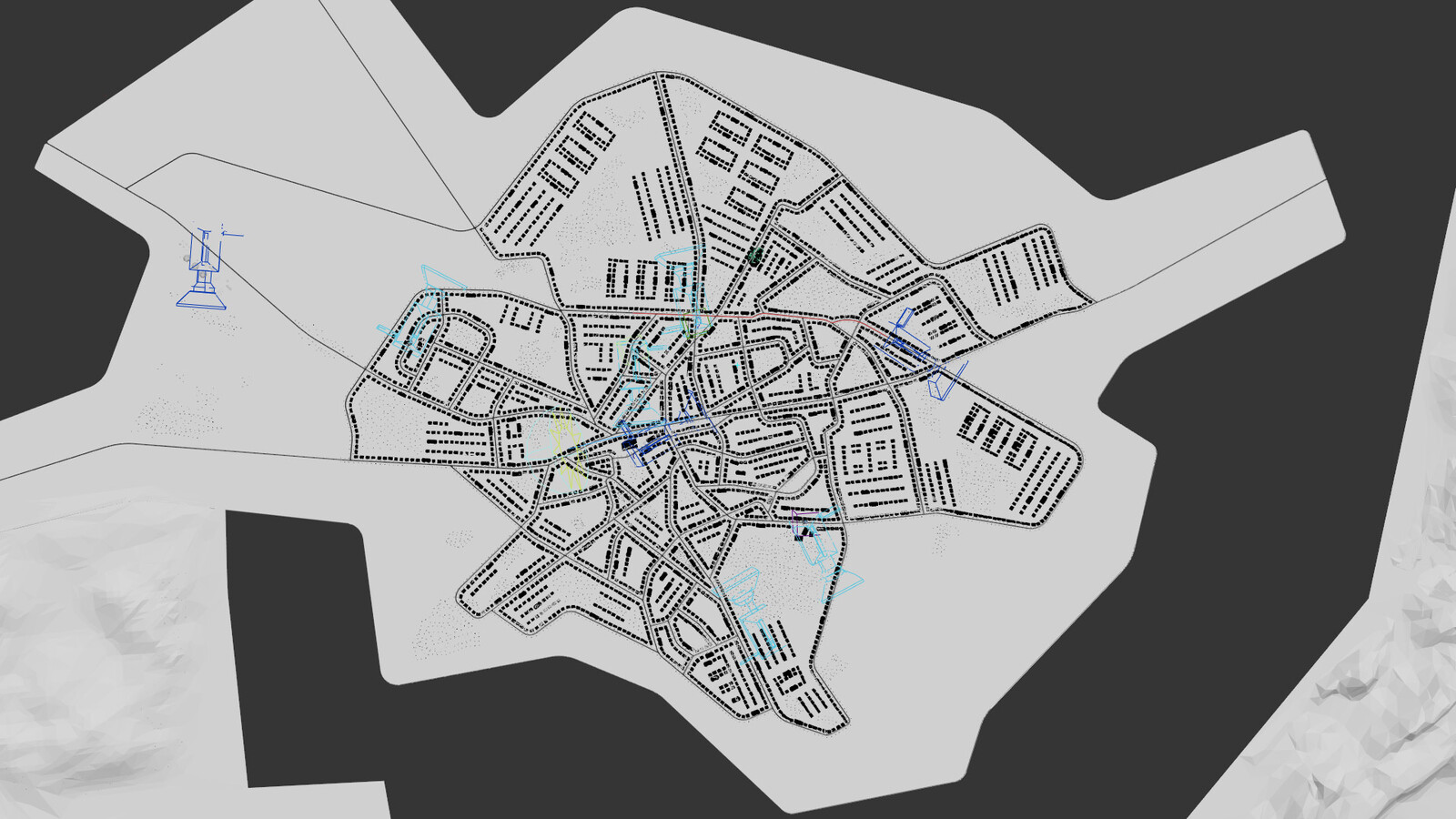 City map - Streets were built after the real city map