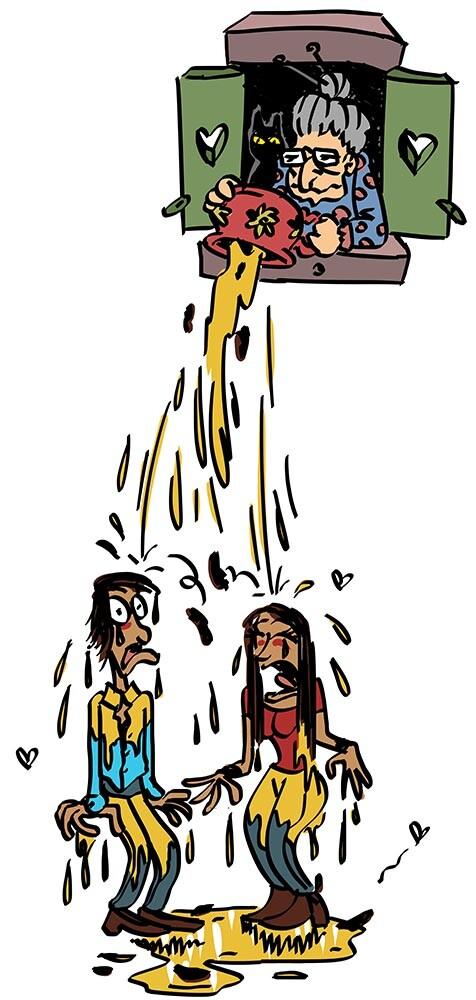 "posh victims of the ""Água vai!"""