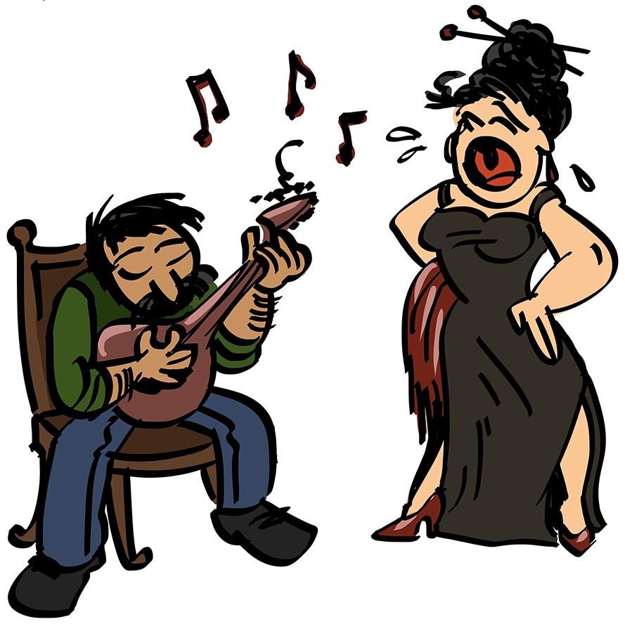 fado singer & portuguese guitar player