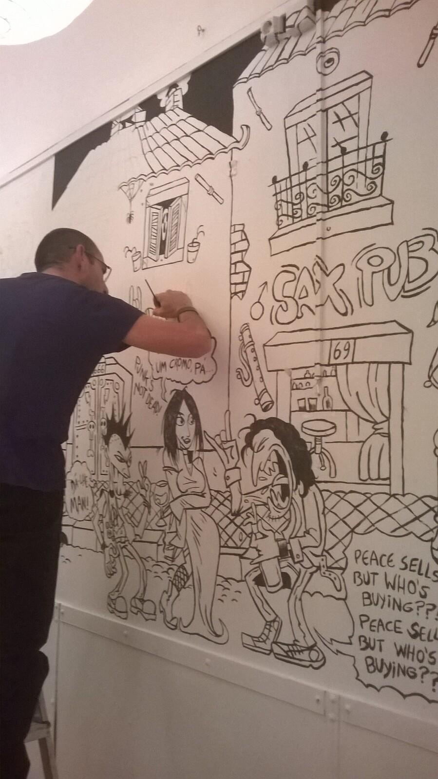 wall painting WIP detail (JAG)