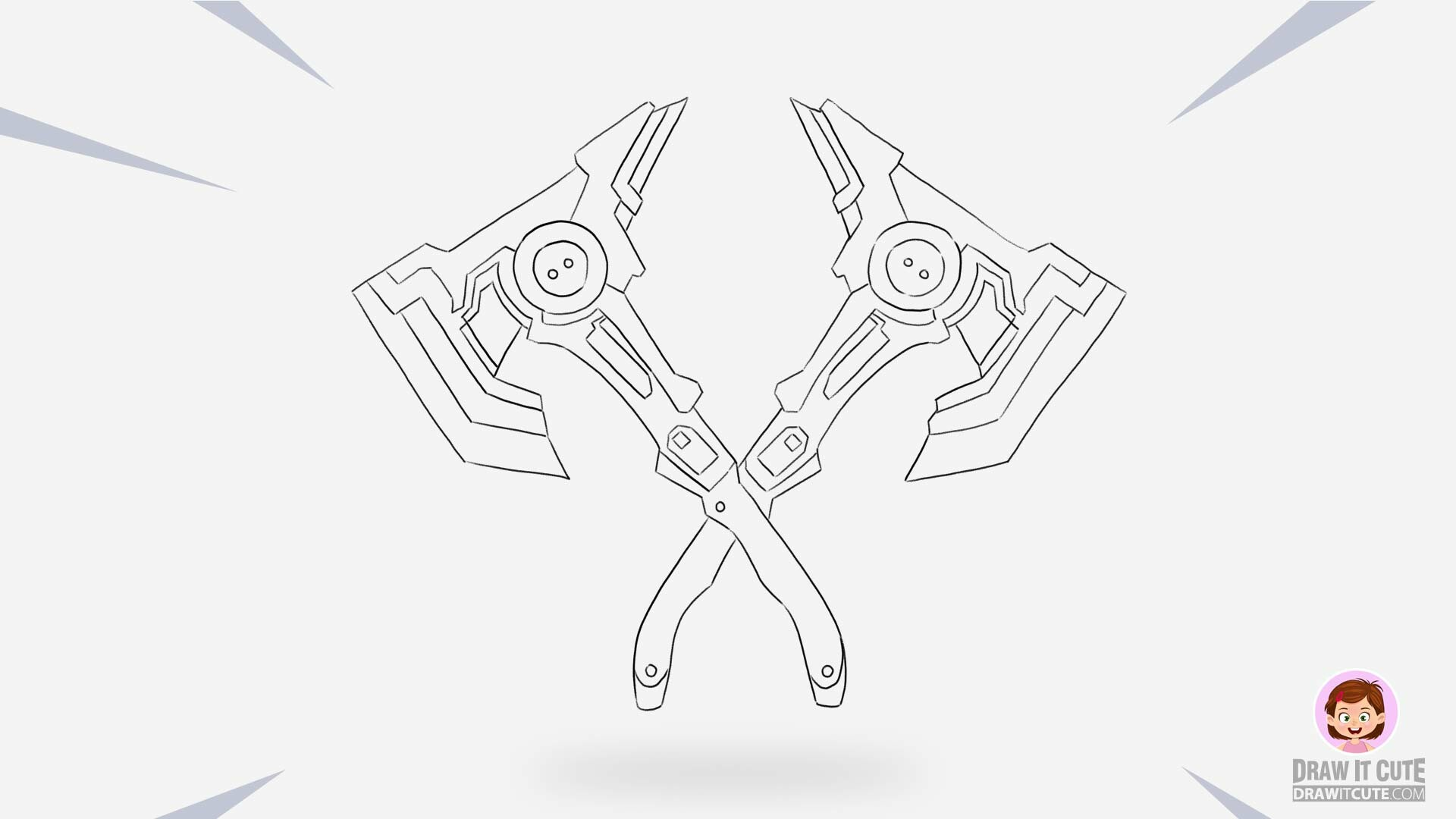 Artstation How To Draw Harmonic Axes Fortnite Season 9 Step By