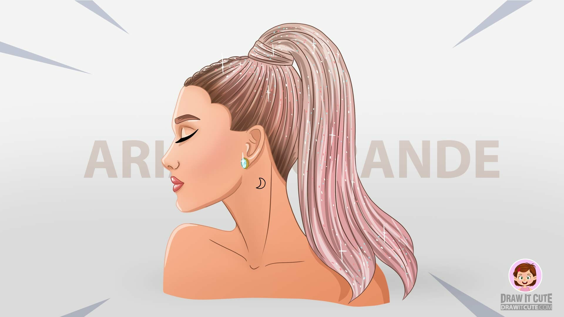 Artstation How To Draw Ariana Grande Step By Step Guide Drawitcute Com
