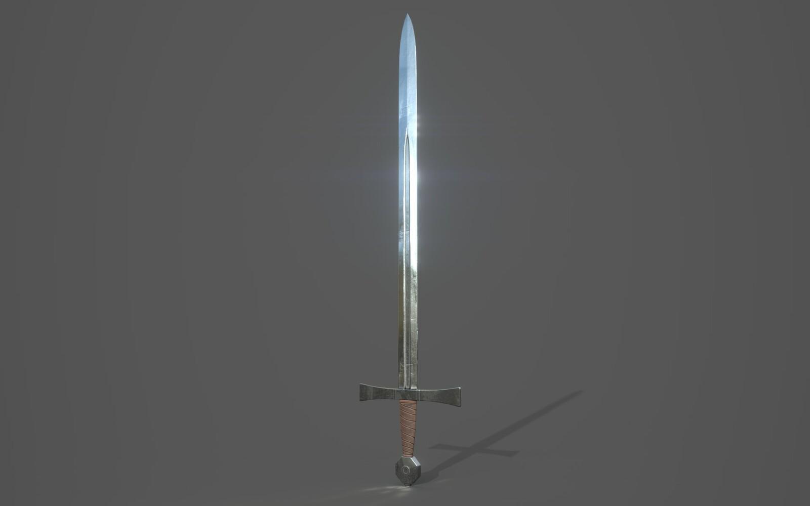 Arming Sword Render 1