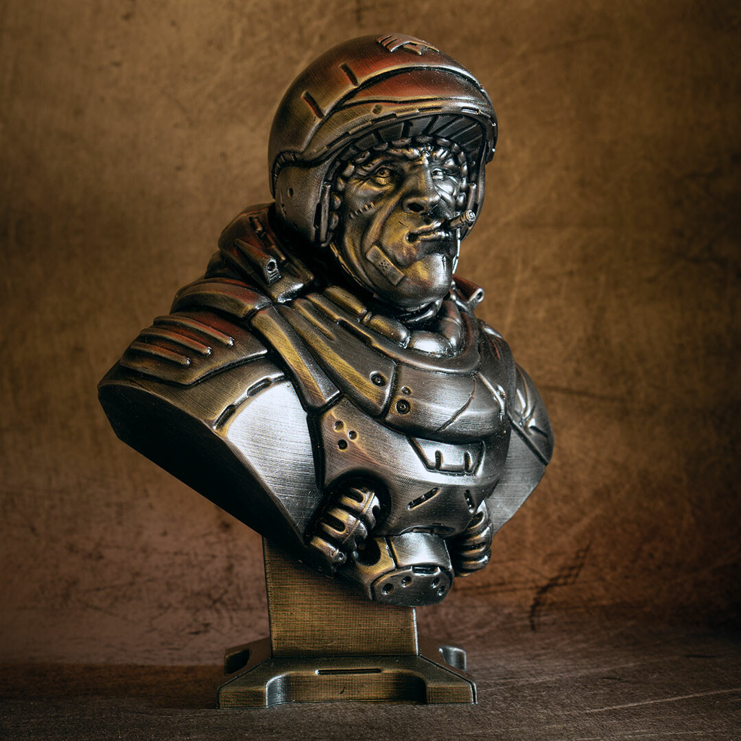 David ostman sarge bust bw 11