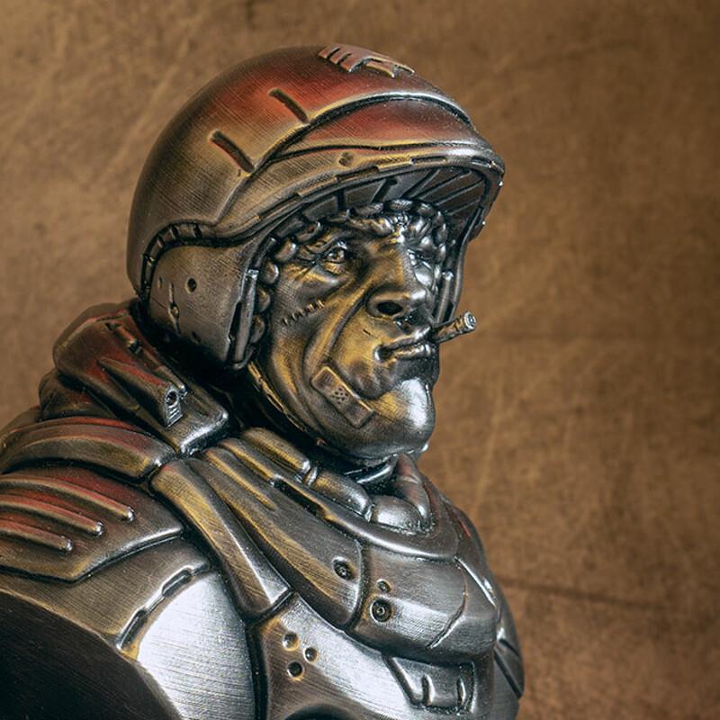 """""""Sarge"""" bust (3D printed)"""