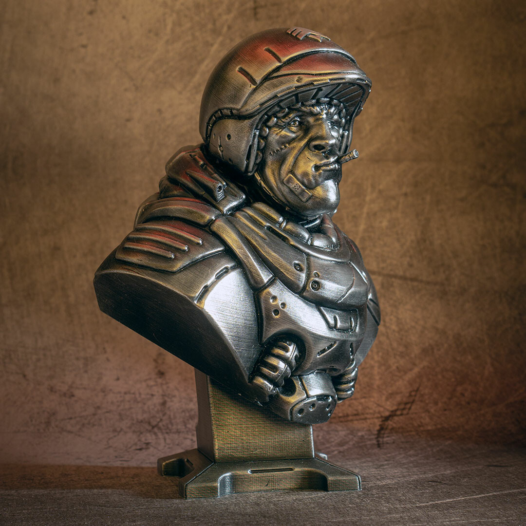 David ostman sarge bust bw 2