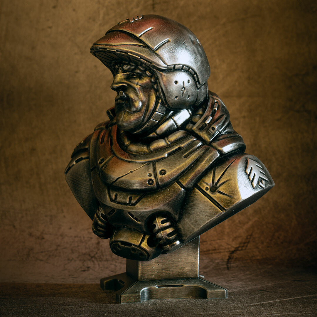 David ostman sarge bust bw 8