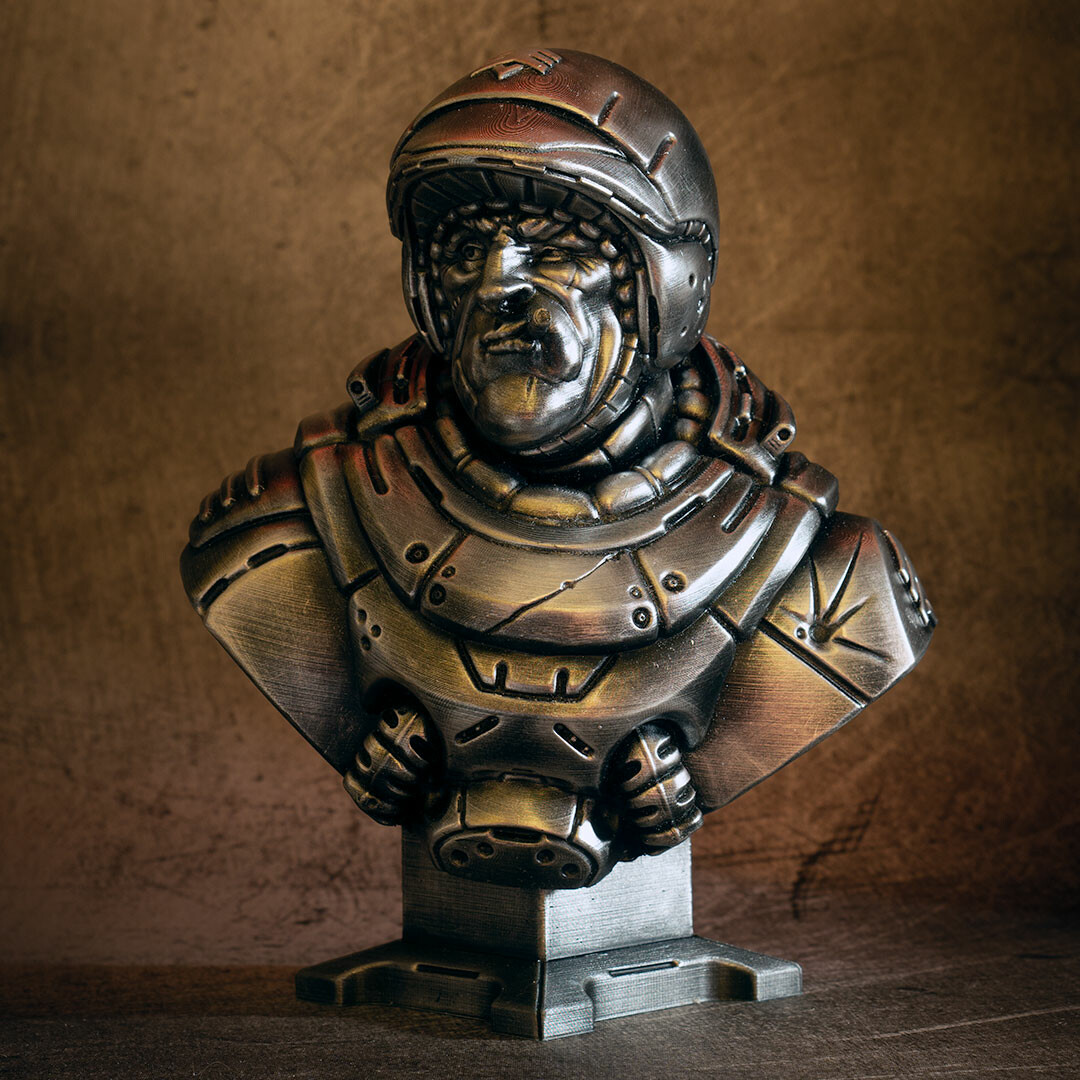 David ostman sarge bust bw 9