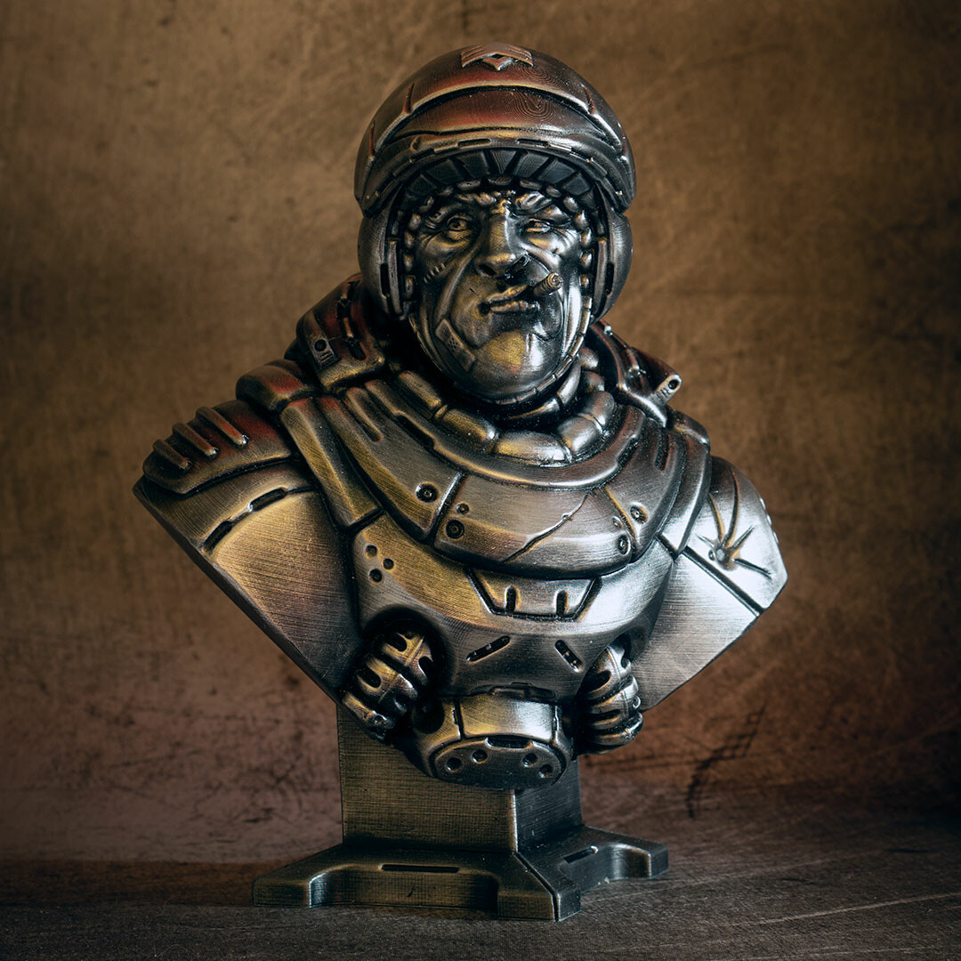David ostman sarge bust bw 10