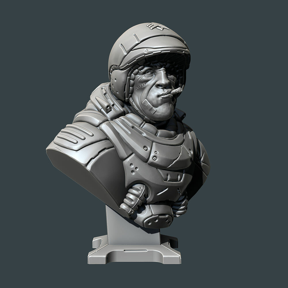David ostman sarge bust 01