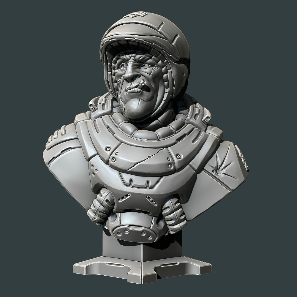 David ostman sarge bust 02