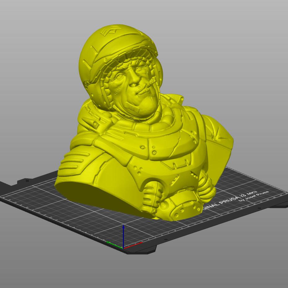 Preparing to print in Prusa Slicer.