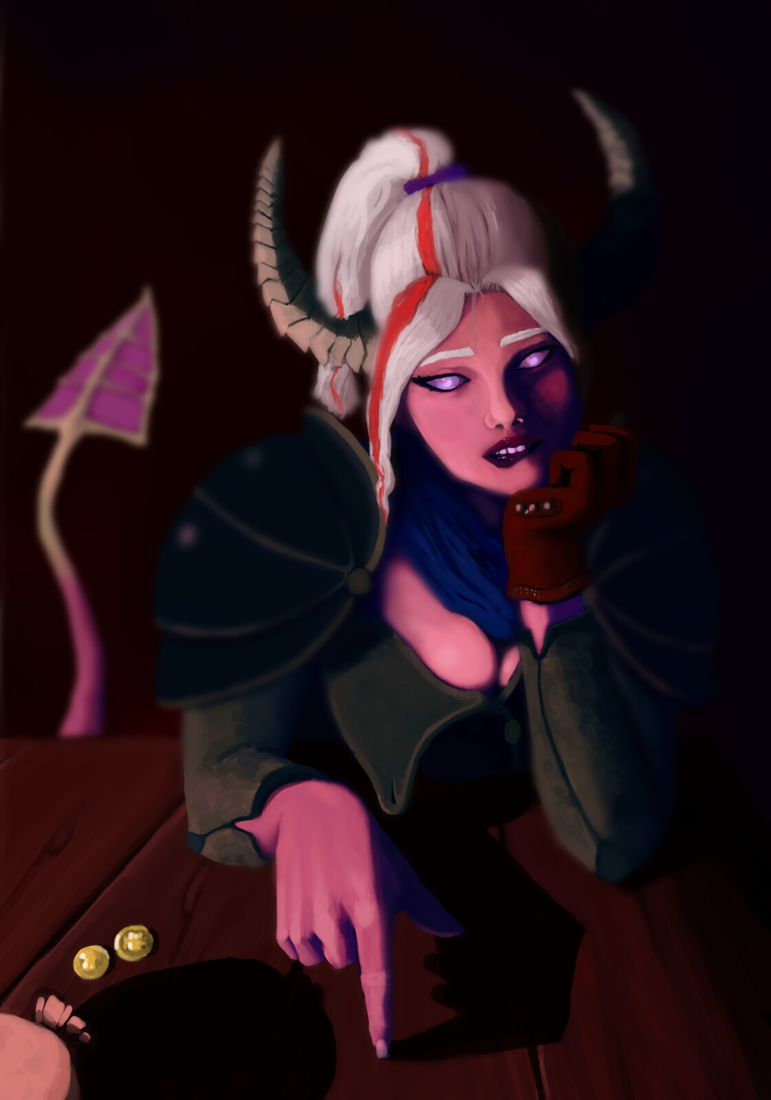 Tiefling commission for a friend's DND character.