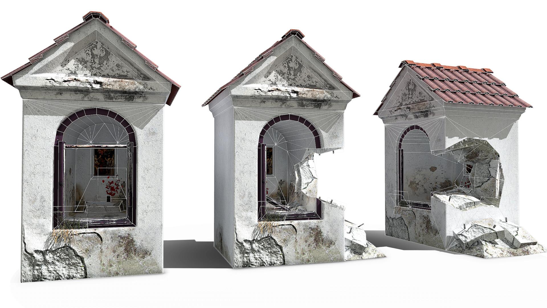 Niche Chapel - low poly mesh under 1k tris texutre 1024x2048