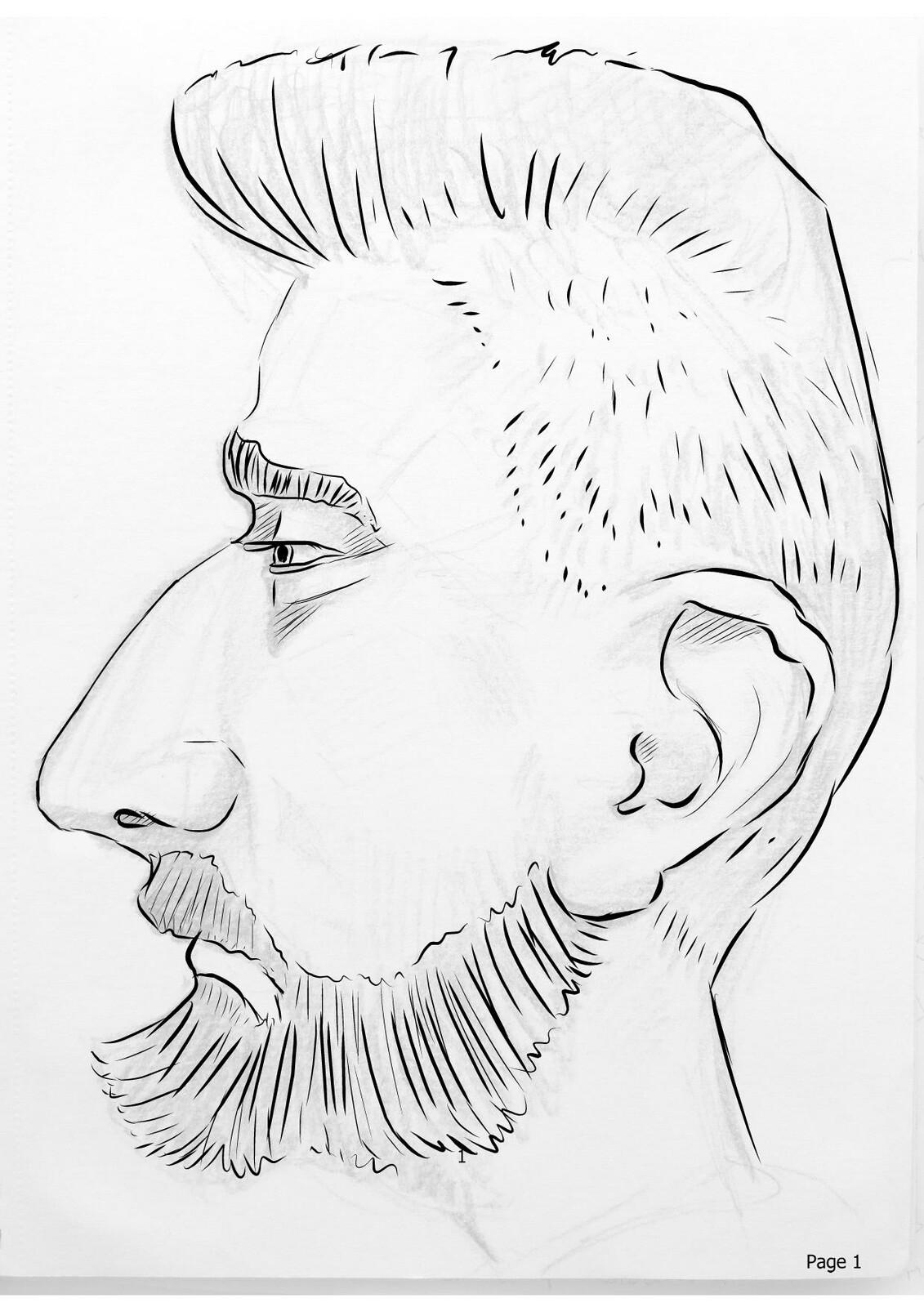 WIP - Caricature, golden ratio circles