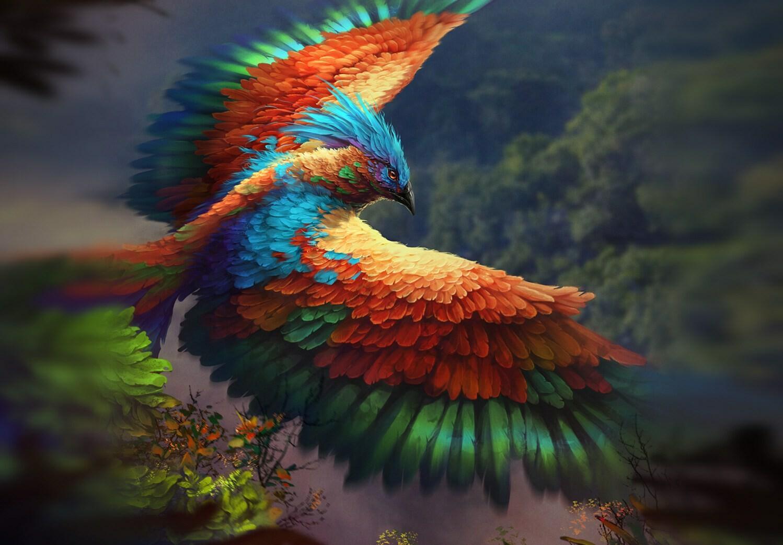 уже фантастические птицы арт расположение комнат