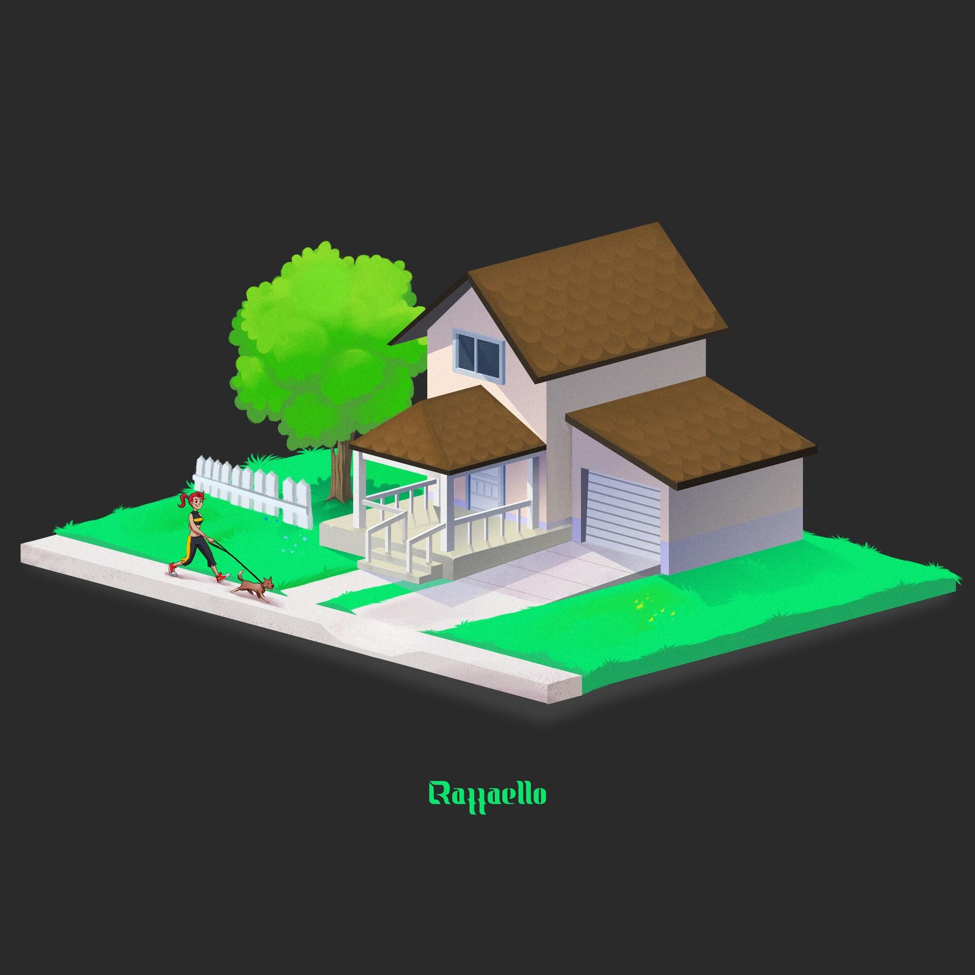 House - dimetric (Procreate -art finished )