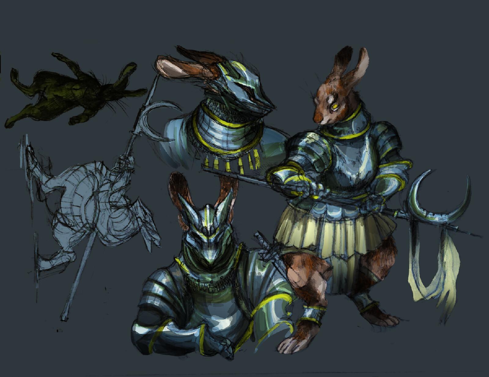 study: rabbit knight