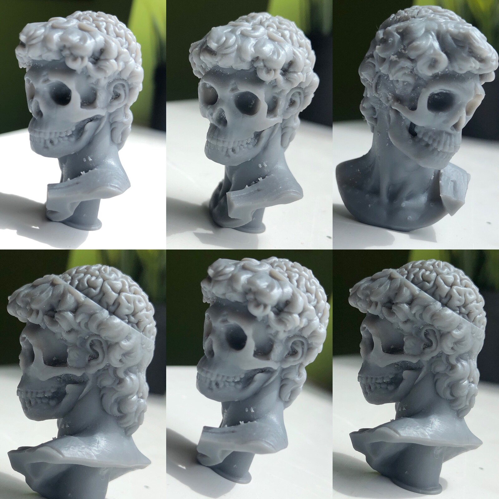 3d print of David's michelangelo bust revisited by myself