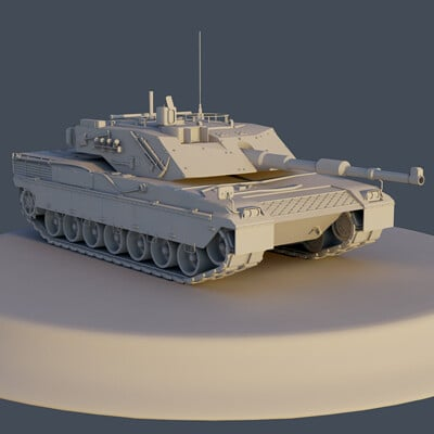 C1 Ariete Main Battle Tank (Print Model)