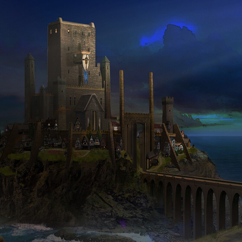 The Legend of King Arthur Challenge - Environment Design - Castle Tintagel