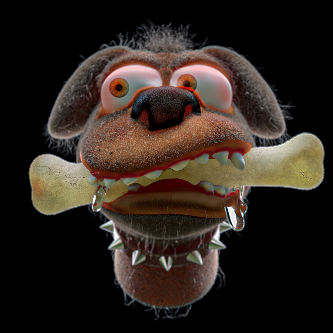Cartoon Dog Study: Zbrush, Cinema 4D & Redshift