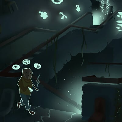 Concept art for an adventure in ZHdK