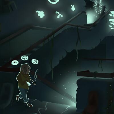 Concept art for an adventure in ZHdK