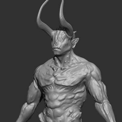Travis lacey demon creature 01 concept art travis lacey zbrush