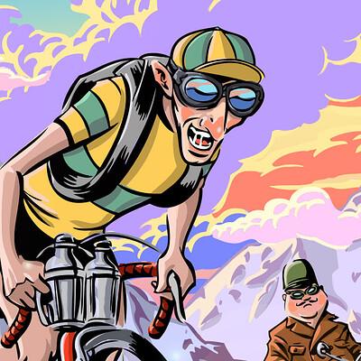 Lance laspina vintage tdf racer