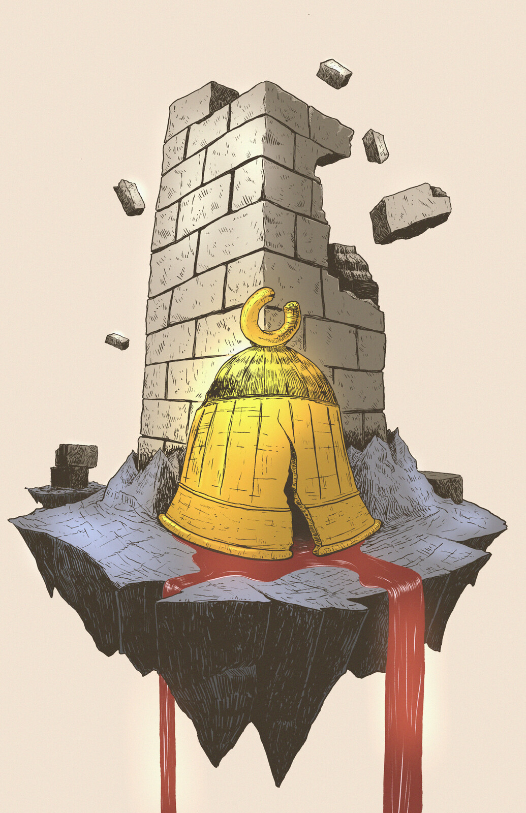 The Bell-Tower. Illustration based on Herman Melville's short story.