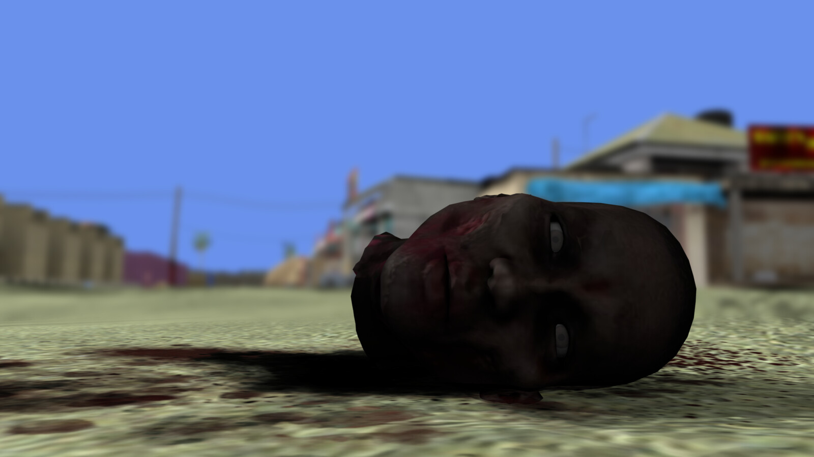Construction worker zombie head