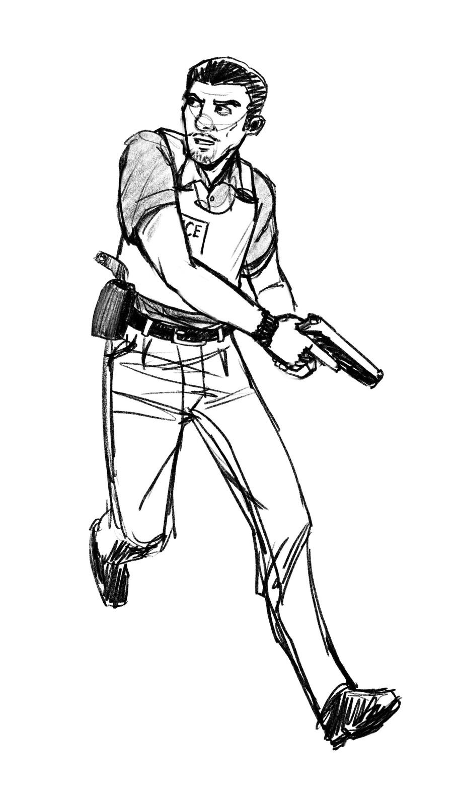 Agent Mejía sketch.