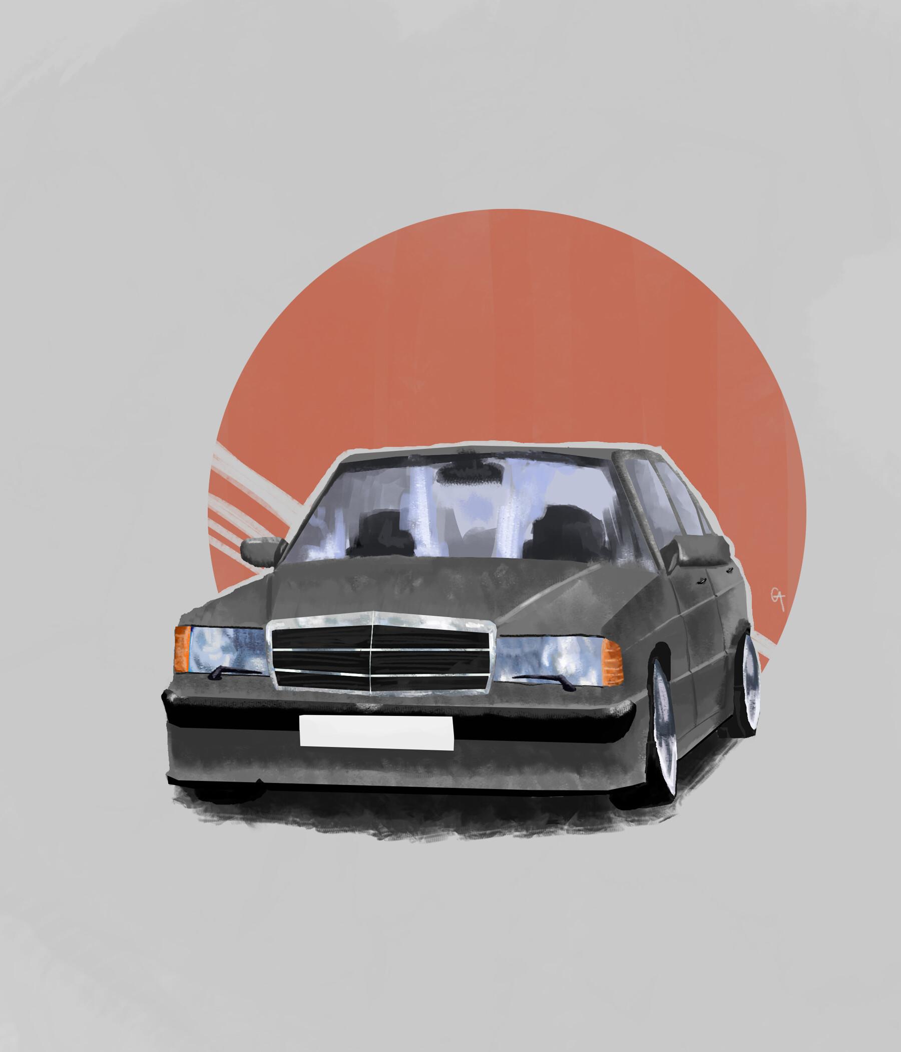 Artstation Mercedes Benz W124 Georgi Aleksandrov