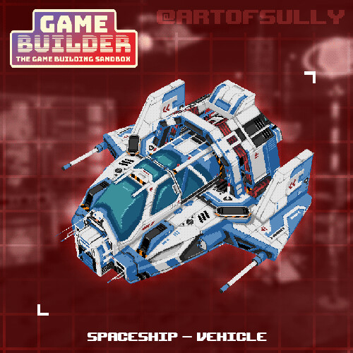 Spaceship - Vehicle (asset for 'Game Builder')