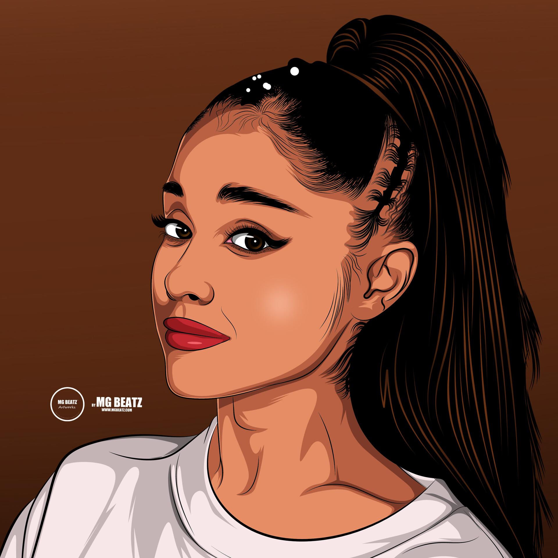 Artstation Ariana Grande Cartoon By Muthaphuli Sydney Sydney Mg Beatz Muthaphuli