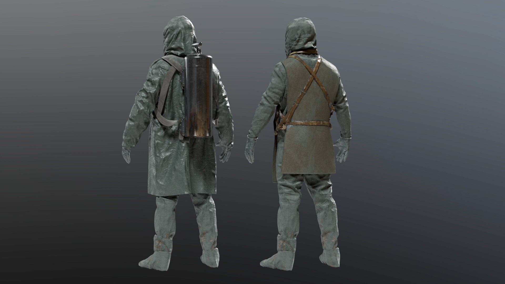 Artstation Chernobyl Liquidator Suit Albin Merle