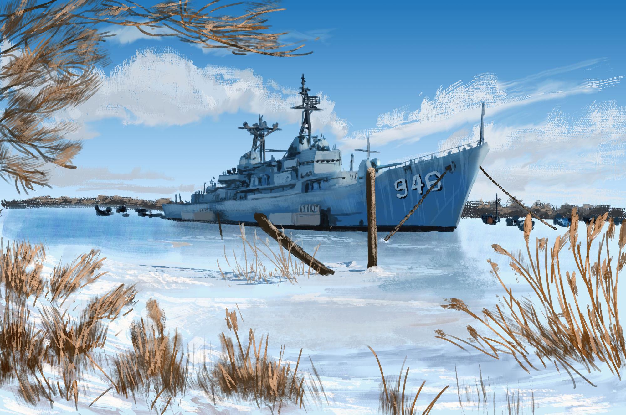 Photo Study: Winter Sun Warship