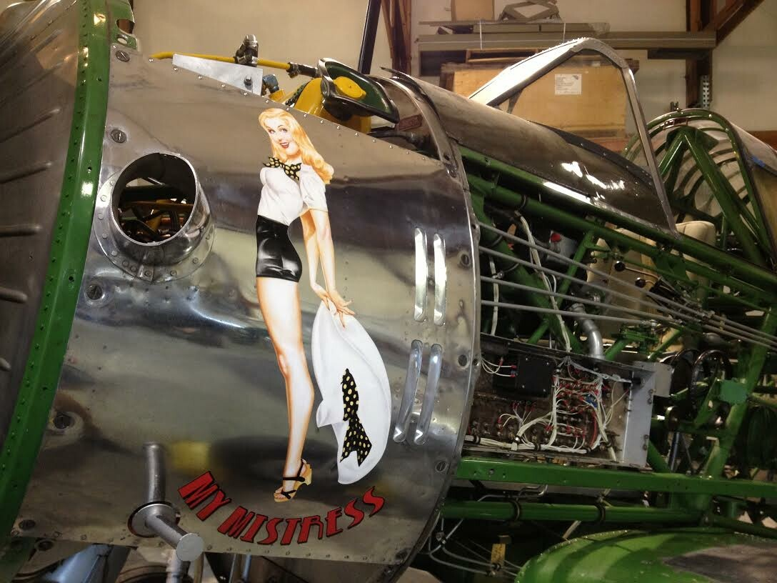 Nose art applied to the aircraft